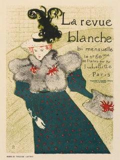 La revue blanche by Henri de Toulouse-Lautrec, stone lithograph on Japon, 1896