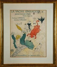 """""""La Vache Enragee"""" iconic vintage poster by Toulouse-Lautrec"""