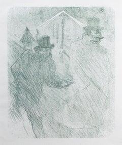 'Le Baron Moïse Mendiant' giclée print after 1898 litho by Toulouse-Lautrec