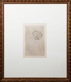 'Portrait de Henri Somm' original drypoint by Henri de Toulouse-Lautrec