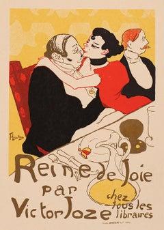 Reine de Joie by Henri de Toulouse-Lautrec, lithograph on Imperial Japon, 1896