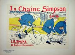 The bicycle race - Original Lithograph (Les Maîtres de l'Affiche), 1900