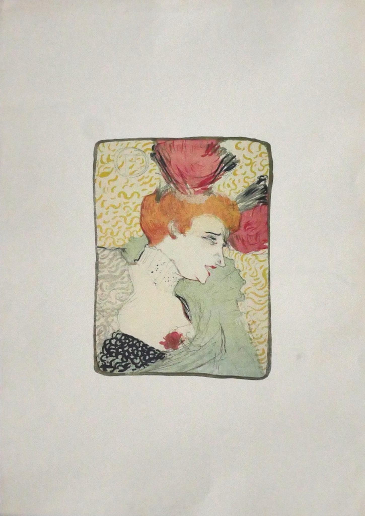 Woman - Original Offset After Henri de Toulouse-Lautrec - 1970s