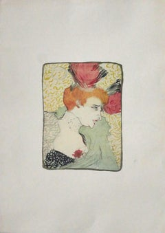Woman - Original Offset After Henri de Toulouse-Lautrec - 1970s