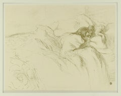 Woman Waking Up in Bed - Original Lithograph After H de Toulouse-Lautrec
