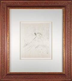 'Yvette Guilbert—Chanson Ancienne' original lithograph by Toulouse-Lautrec