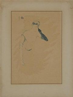 Yvette Guilbert - Lithograph after Henri de Toulouse-Lautrec - Mid-20th Century