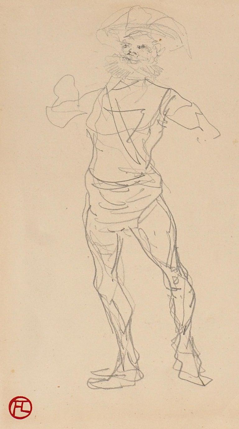 Beaux Arts Henri De Toulouse Lautrec pencil Drawings Catalogued For Sale