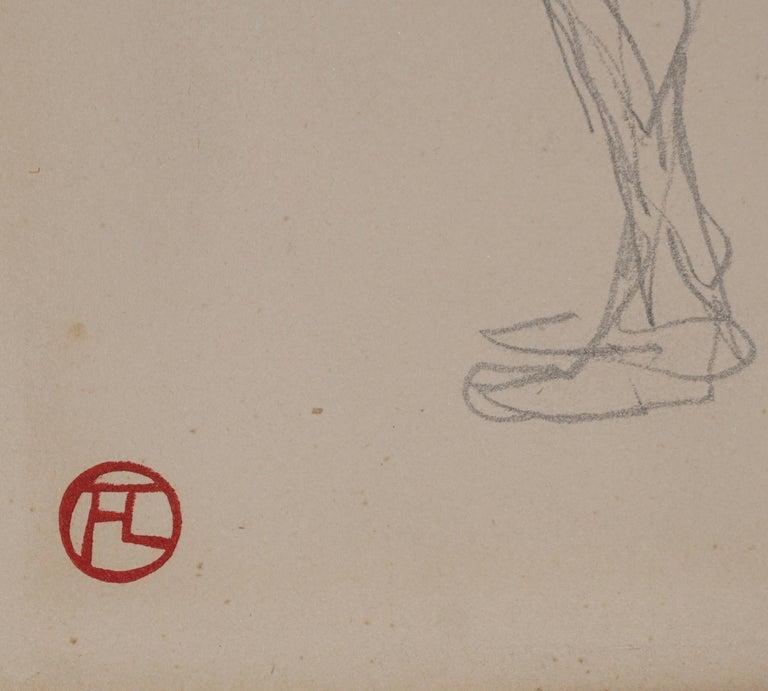 French Henri De Toulouse Lautrec pencil Drawings Catalogued For Sale