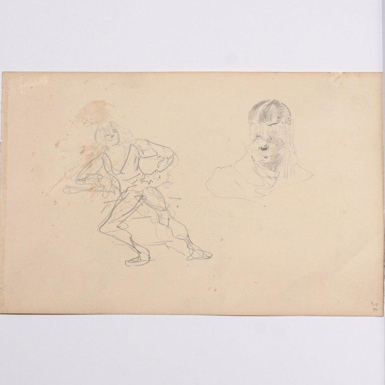 Hand-Painted Henri De Toulouse Lautrec pencil Drawings Catalogued For Sale
