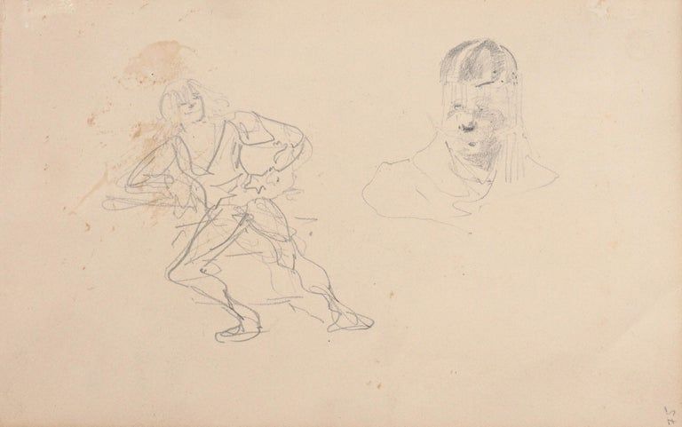 Henri De Toulouse Lautrec pencil Drawings Catalogued In Good Condition For Sale In Dallas, TX
