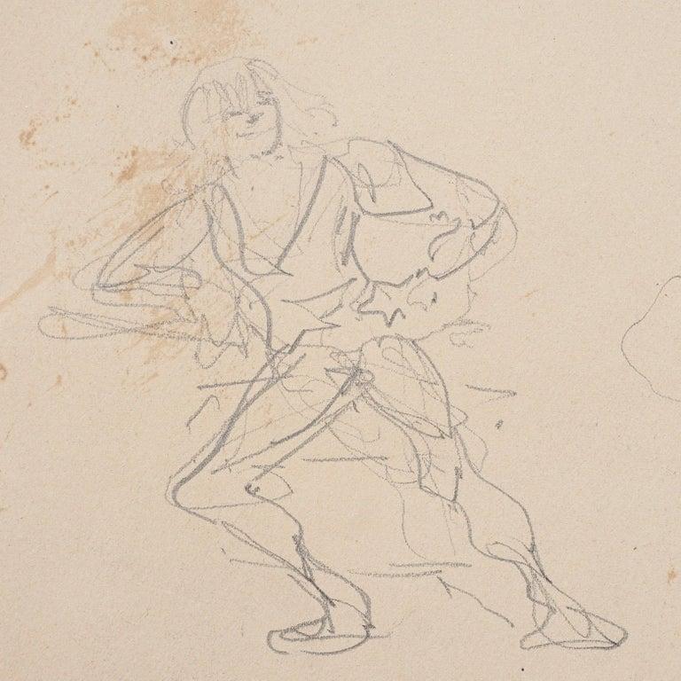 Late 19th Century Henri De Toulouse Lautrec pencil Drawings Catalogued For Sale