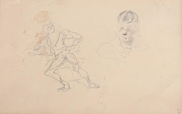 Paper Henri De Toulouse Lautrec pencil Drawings Catalogued For Sale