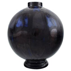 Henri Delcourt for Boulogne sur Mer, Round Art Deco Vase