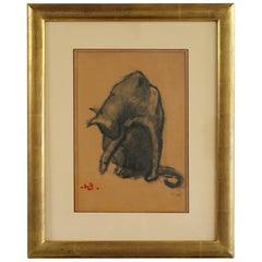 Henri Deluermoz, Licking Cat, France, 1920