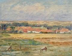 Âne dans un paysage - 19th Century Oil, Donkey in Landscape by Henri Duhem