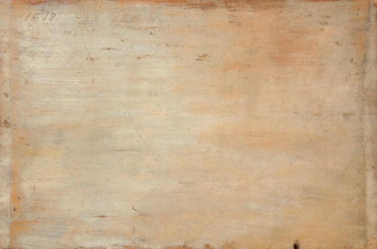 Au bord du canal - Impressionist Oil, Figures by Canal in Landscape, Henri Duhem 5
