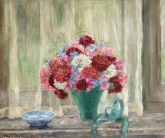 """""""Bouquet de Fleurs"""" Duhem C.19th French Impressionist Still Life Flowers"""