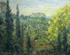 Le Provencal - 19th Century French Oil, Trees in Summer Landscape by Henri Duhem