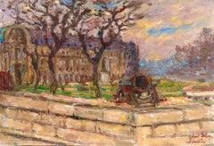 Les Invalides - Paris - 19th Century Oil, City Landscape by Henri Duhem