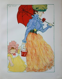Going to the Park - Original lithograph (1897/98)