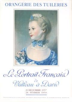 """Henri Fantin-Latour-Le Portrait Francais-28.75"""" x 20.5""""-Lithograph-1957-Realism"""