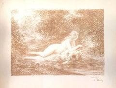 La Source dans les Bois - Original Lithograph by Henri Fantin-Latour - 1898
