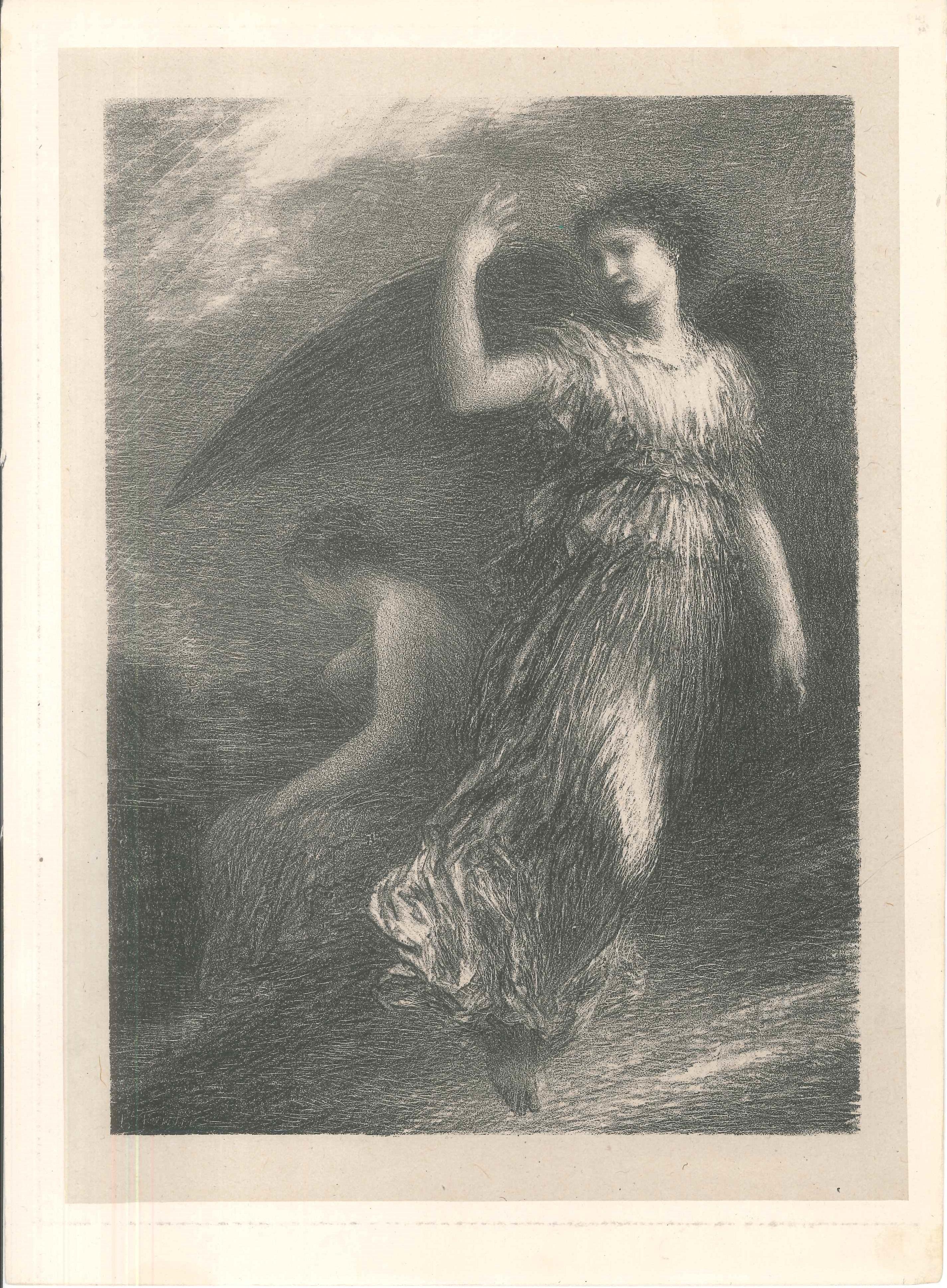 Le Paradis et la Péri - Original Lithograph by Henri Fantin-Latour - 1901