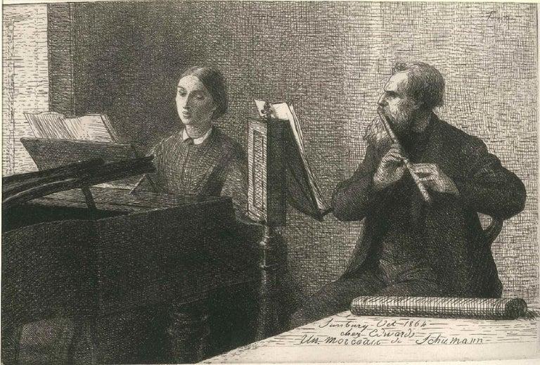 Henri Fantin-Latour Interior Print - Un Morceau de Schumann