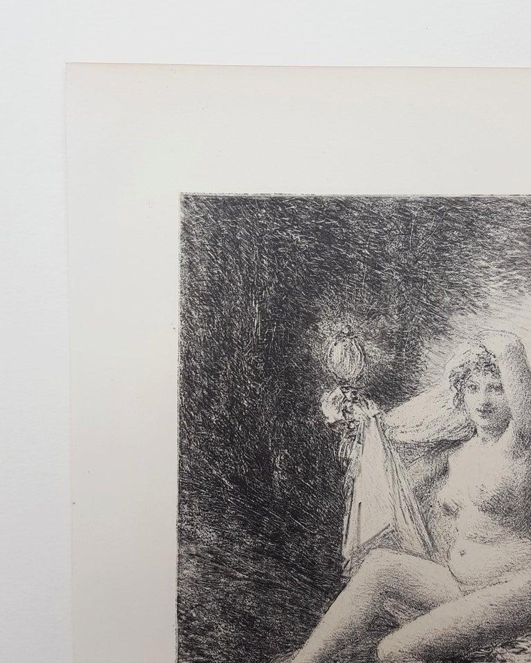 Vérité (Truth) - Gray Nude Print by Henri Fantin-Latour