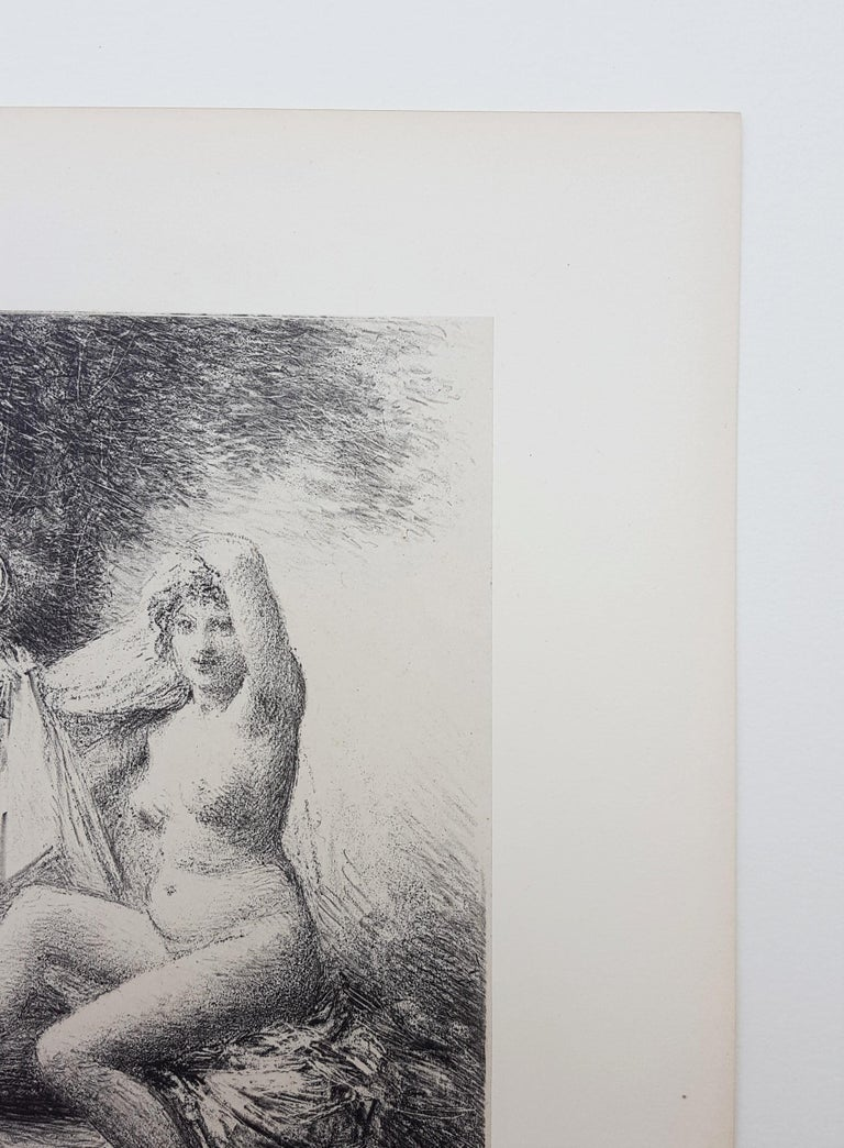 An original lithograph with chine collé on wove paper by French artist Henri Fantin-Latour (1836-1904) titled