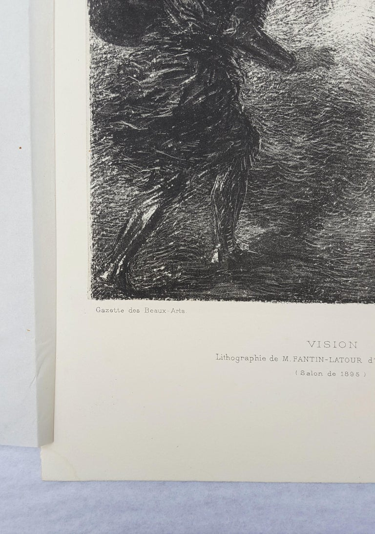 An original lithograph on wove paper by French artist Henri Fantin-Latour (1836-1904) titled