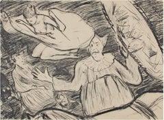 """Circus,"" original lithograph by Henri-Gabriel Ibels"