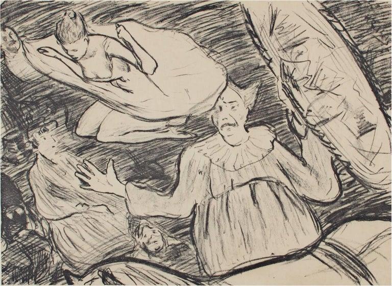 """Henri Gabriel Ibels Figurative Print - """"Circus,"""" Original Lithograph signed by Henri-Gabriel Ibels"""