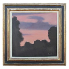 """""""Early Sunrise"""" Modern Impressionist Purple and Pink Toned Forest Landscape"""