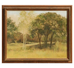 Naturalistic Landscape Painting with Trees