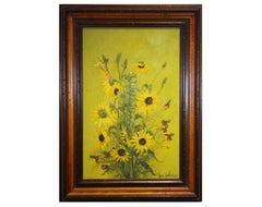 Sunflowers with Texas Wildflowers Floral Still Life