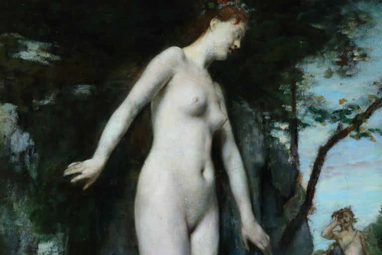 Diana & Actaeon - 19th Century Mythological Oil, Nudes in Landscape by H Gervex For Sale 7