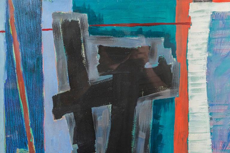 Henri Goetz (1909-1989), Composition, Painting,  Gouache on paper, Signed and dated on the right corner, With modern frame,  France, 1953  Measures: Width 96.5 cm, height 85 cm.  Henri Goetz, born Harry Bernard Goetz on September 29, 1909 in New