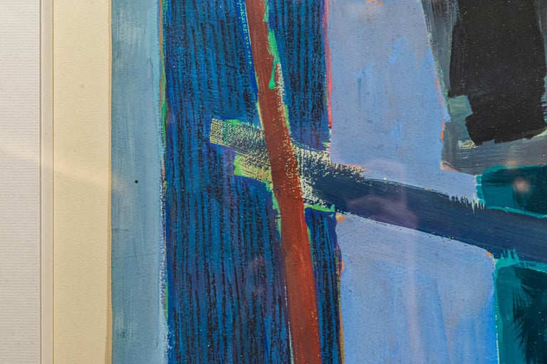 French Henri Goetz, Composition, Painting, France, 1953 For Sale