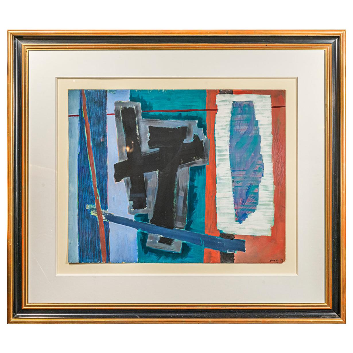 Henri Goetz, Composition, Painting, France, 1953