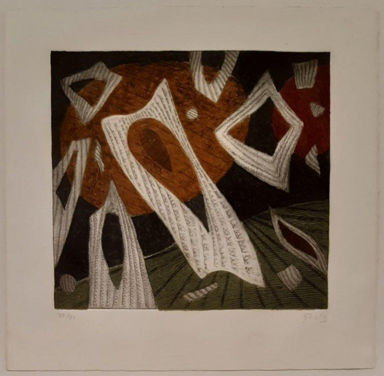 Henri Goetz Abstract Print - No title