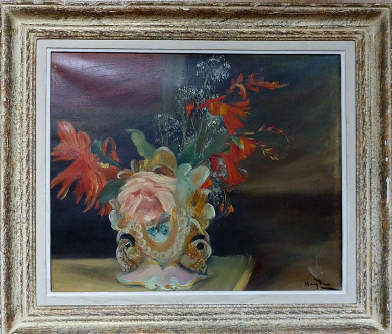 Still Life with Flowers - Painting by Henri Hayden