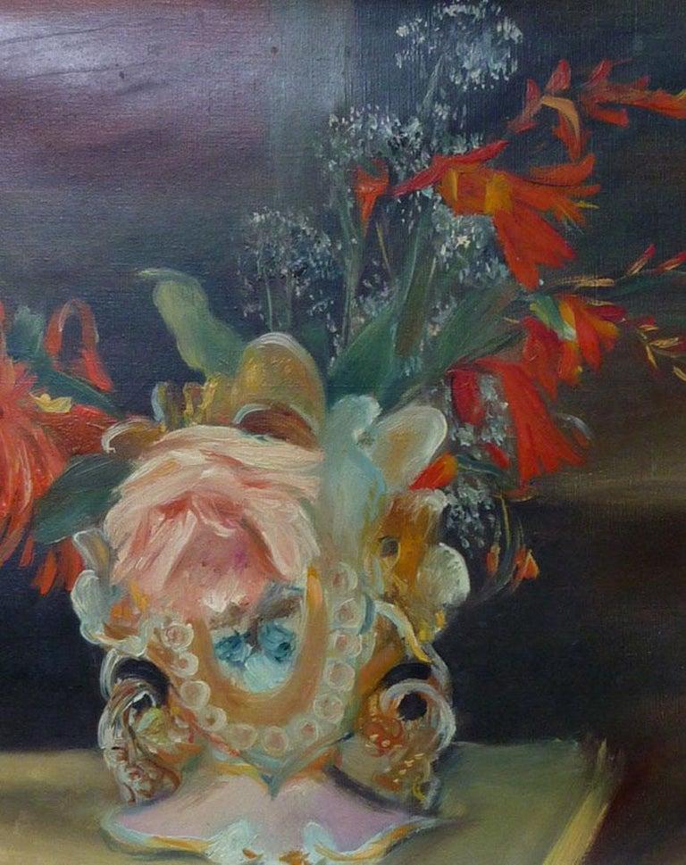 Still Life with Flowers - Black Still-Life Painting by Henri Hayden