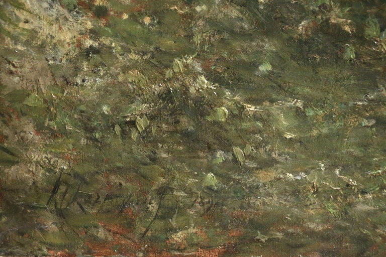 Oil on original canvas, 1891. Signed lower left and dated 1891. This painting is not currently framed but a suitable frame can be sourced if required.  Born in Valenciennes, Henri Harpignies did not start to paint seriously until the age of 27 when