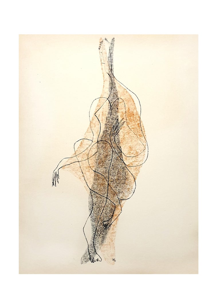 Henri Laurens - Character - Original Lithograph - Surrealist Print by Henri Laurens