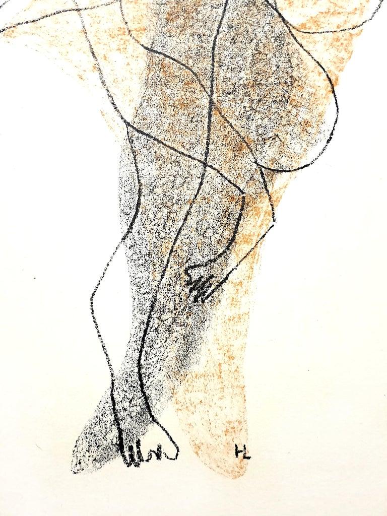 Henri Laurens - Character - Original Lithograph - White Figurative Print by Henri Laurens