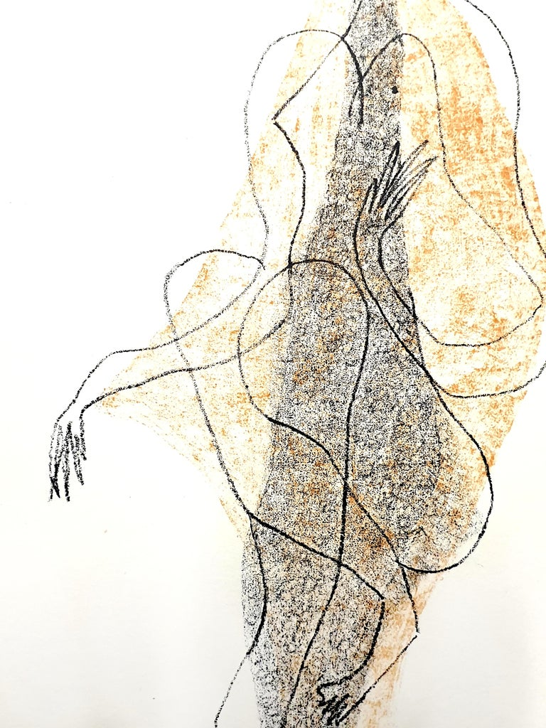 Marino Marini - Character - Original Lithograph 1951 Dimensions: 32 x 24 cm From XXe siècle Unsigned and unumbered as issued