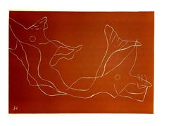 Henri Laurens - Ocean - Original Color Linoleum Cut