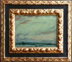 Clair de Lune - Gerberoy - 19th Century Oil, Moonlit Landscape by H Le Sidaner